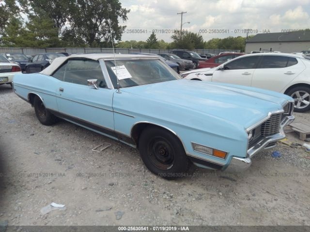 1972 FORD LTD CONVERTIBLE - Small image. Stock# 25630541