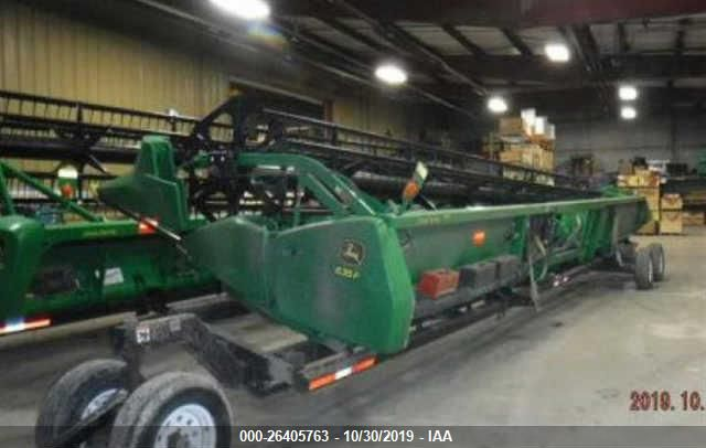 click here to view 2013 JOHN DEERE 635F ONLY NO TRAILER at IBIDSAFELY