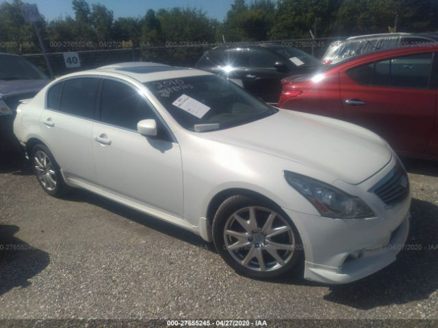 2010 Infiniti G37 sedan 3.7. Lot 111027655245 Vin JN1CV6AR6AM462025