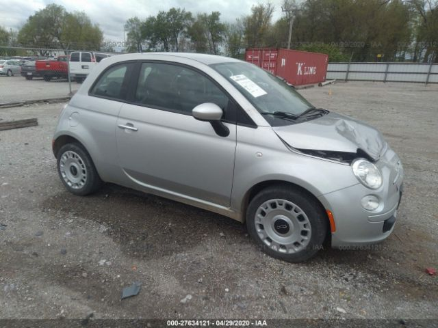 2012 Fiat 500 1.4. Lot 111027634121 Vin 3C3CFFAR3CT335261