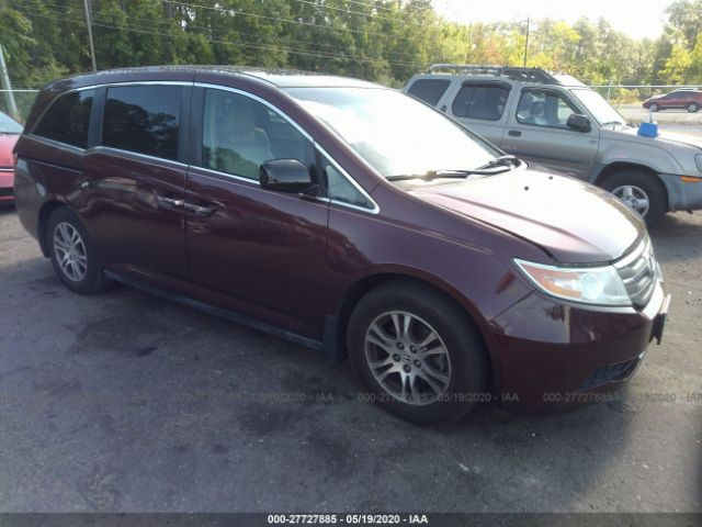 Auction Ended: Salvage Car Honda Odyssey 2012 Maroon is ... |Honda Odyssey Maroon