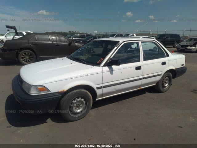 salvage car toyota corolla 1990 white for sale in lennox sd online auction 1nxae94a1lz137146 ridesafely