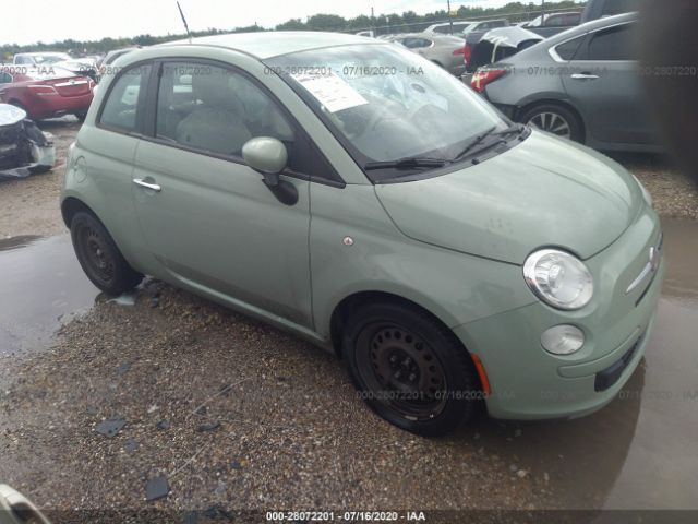 2012 Fiat 500 1.4. Lot 111028072201 Vin 3C3CFFAR9CT319596