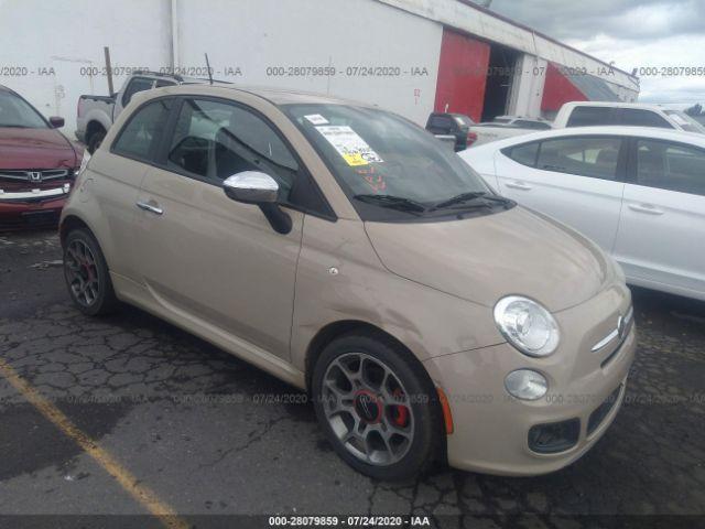 2012 Fiat 500 1.4. Lot 111028079859 Vin 3C3CFFBR6CT328531
