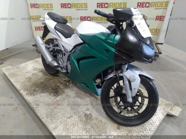 2010 Kawasaki Ex250 . Lot 111028138852 Vin JKAEXMJ10ADA56267