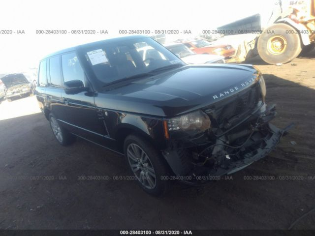 2012 Land rover RANGE ROVER 5.0. Lot 111028403100 Vin SALMF1D41CA375731