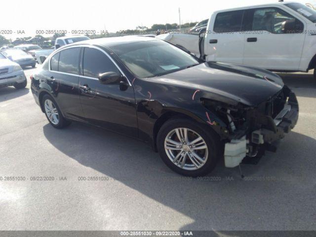 2012 Infiniti G25 sedan 2.5. Lot 111028551030 Vin JN1DV6AR7CM862683