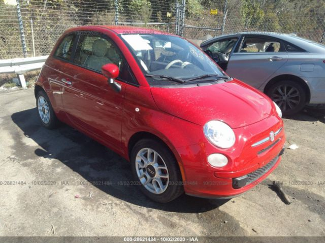 2012 Fiat 500 1.4. Lot 111028621484 Vin 3C3CFFAR3CT112704