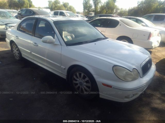used car hyundai sonata 2002 white for sale in fontana ca online auction kmhwf35h02a603337 ridesafely